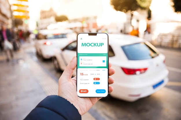 Smartphone com aplicativo de rastreamento
