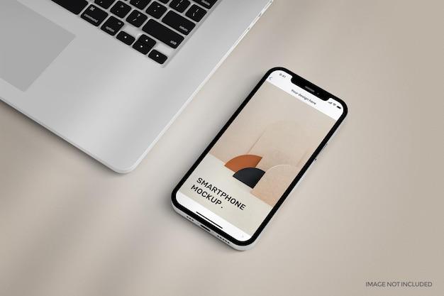 Smartphone com maquete de tela inteira