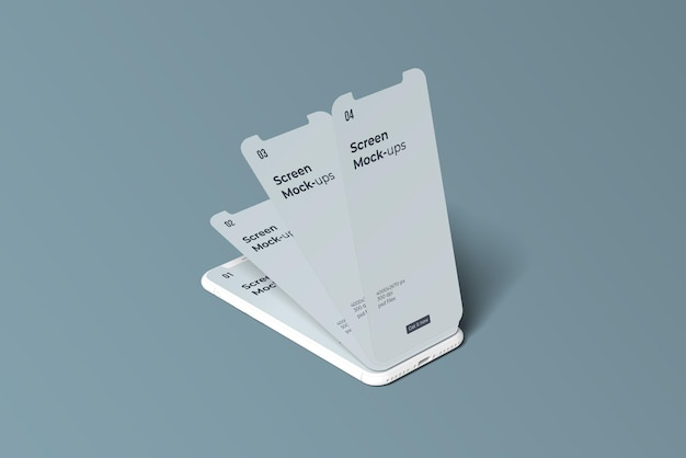 Smartphone de argila para maquetes de tela de aplicativos