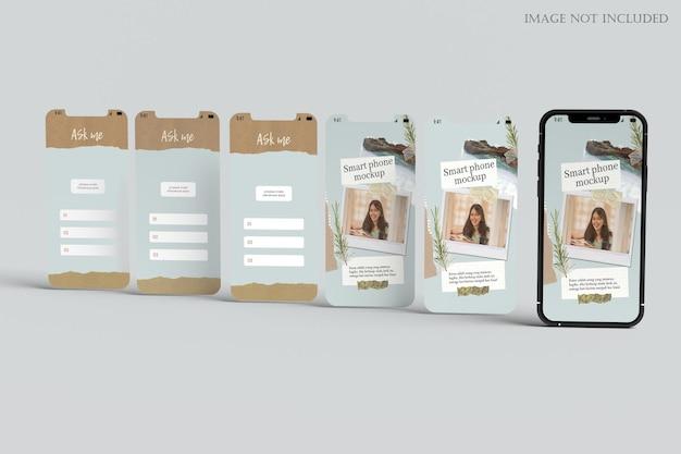 Smartphone e maquete de tela