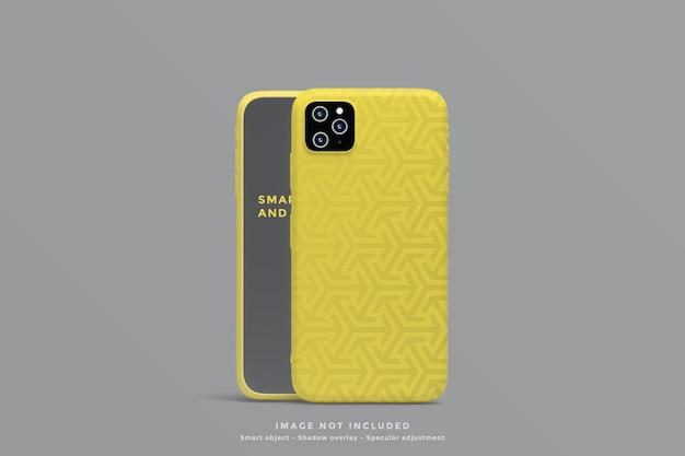 Smartphone em pé e maquete de capa