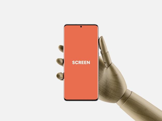 Smartphone na mão maquete
