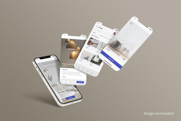 Smartphone para maquete de tela de aplicativos