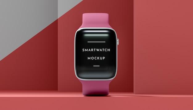 Smartwatch moderno de vista frontal com simulação de tela