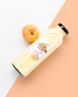 Smoothie de suco com pêssego