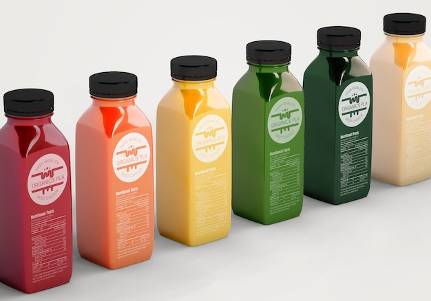 Smoothies de alimentação saudável para o conceito de desintoxicação