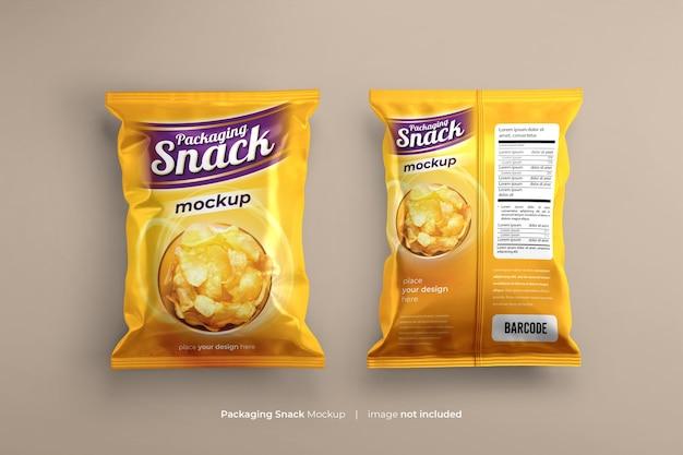 Snack pouch saco plástico mockup psd