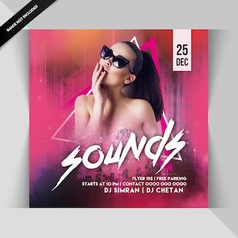 Soa dj noite festa flyer