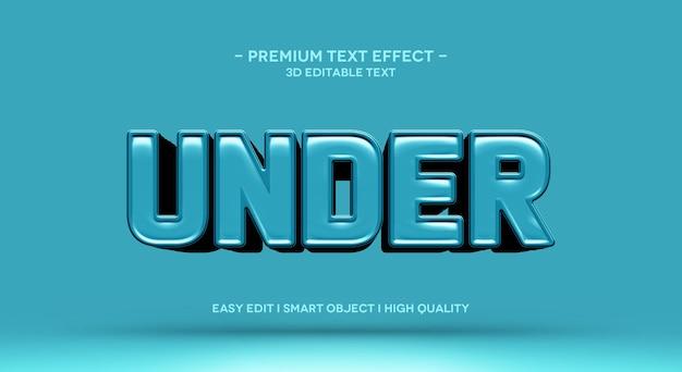 Sob modelo de efeito de texto 3d