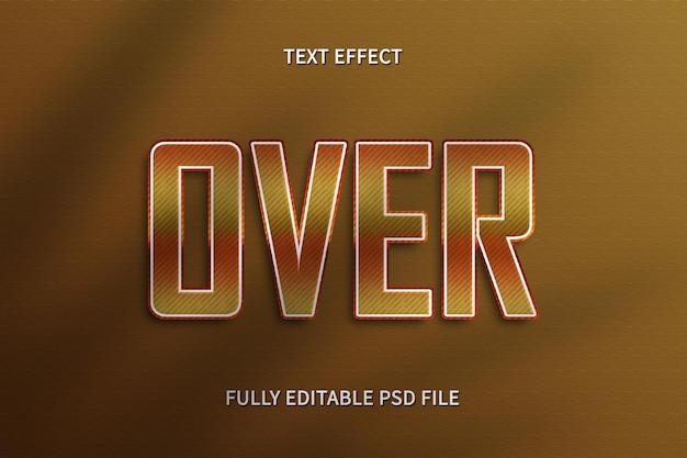 Sobre efeito de texto photoshop