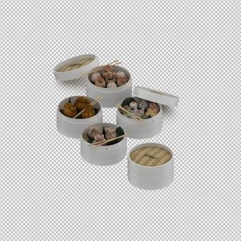 Sobremesa 3d isolado render