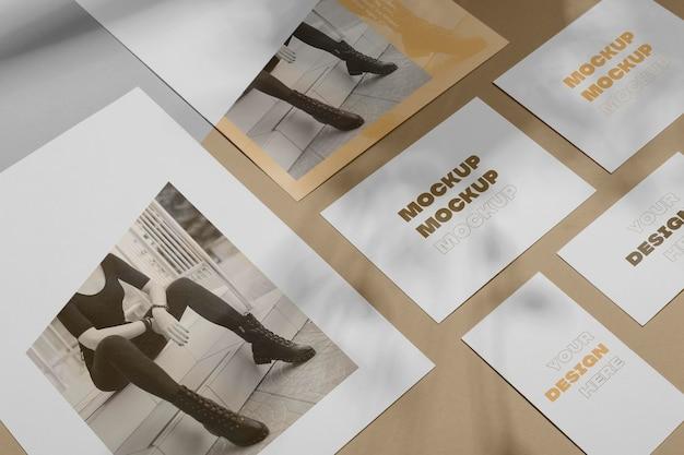 Sobreposição de sombra de brochura de maquete