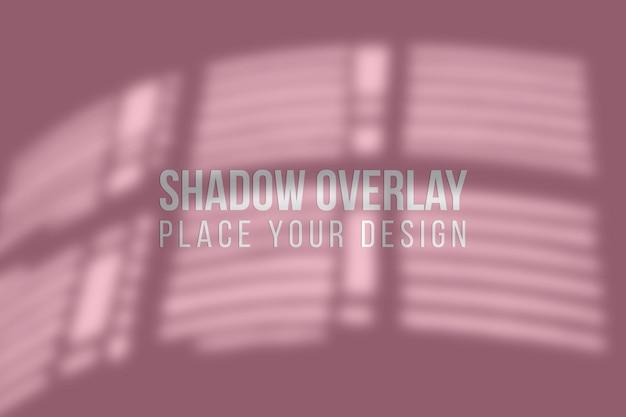 Sobreposição de sombras de folhas e conceito transparente de efeito de sobreposição de sombras de janelas