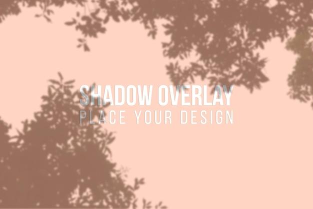 Sobreposição de sombras de folhas ou conceito transparente de efeito de sobreposição de sombras