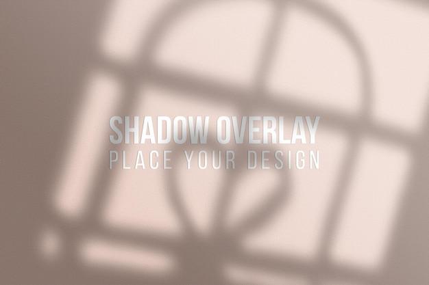 Sobreposição de sombras de janela ou efeito de sobreposição de sombras conceito transparente