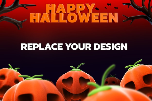 Socail media mockup design renderização 3d