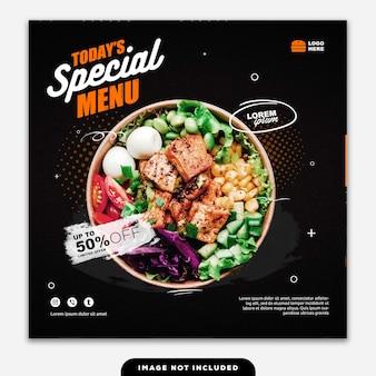 Social media banner post food menu especial hoje