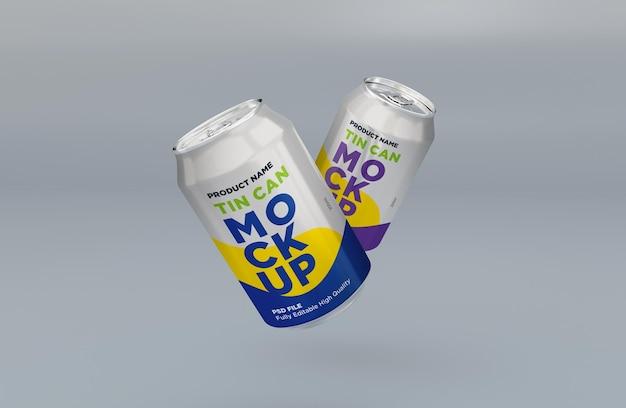 Soda de alumínio pode beber bebida maquete psd