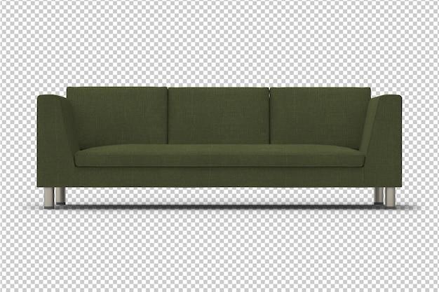 Sofá verde isolado