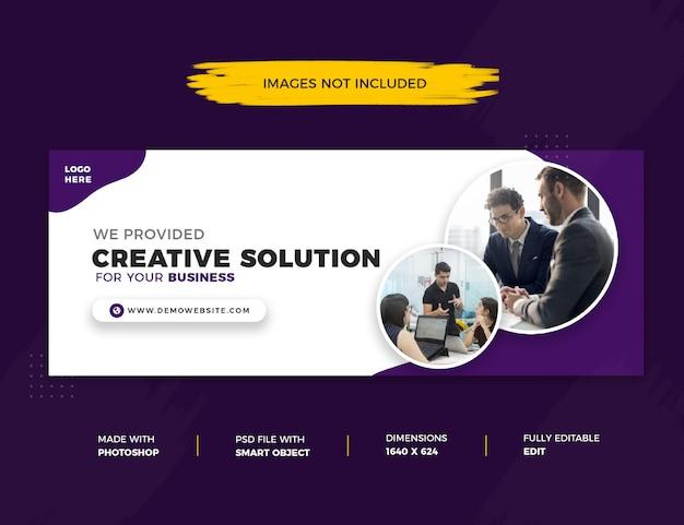 Solução criativa facebook cover