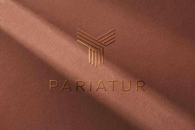 Sombra de papel de maquete de logotipo