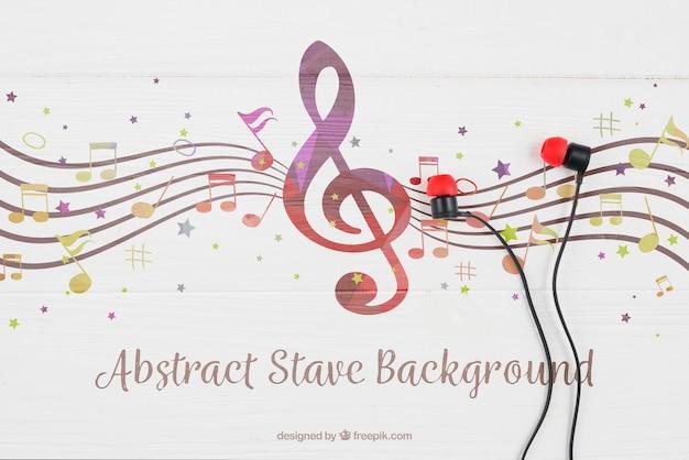 Sorteio de fones de ouvido em notas musicais