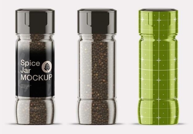 Spice jar mockup Psd Premium