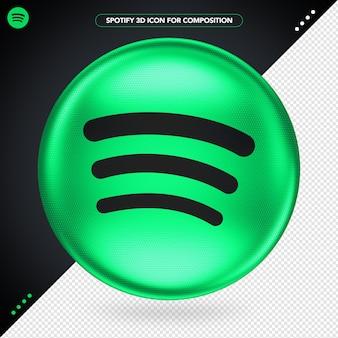 Spotify ellipse isolada em renderização 3d