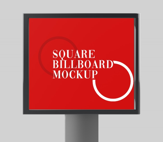 Sqaure billboard mockup