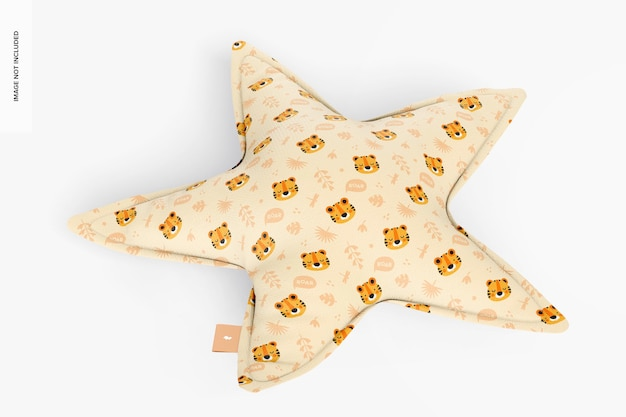 Star pillow mockup