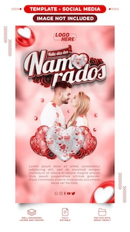 Stories social media feliz dia dos namorados no brasil