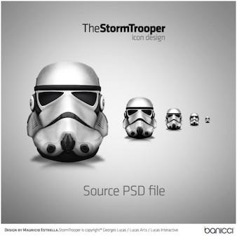 Stormtrooper ícone de arquivo psd