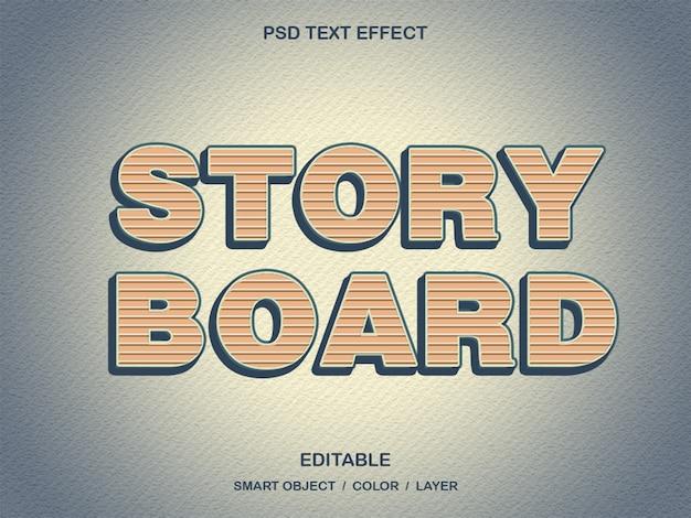 Story board - efeito de texto psd