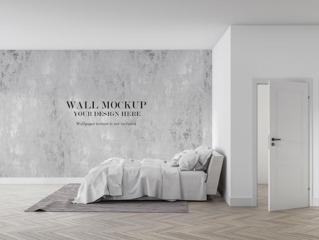 Sua maquete de design da vista lateral da cama