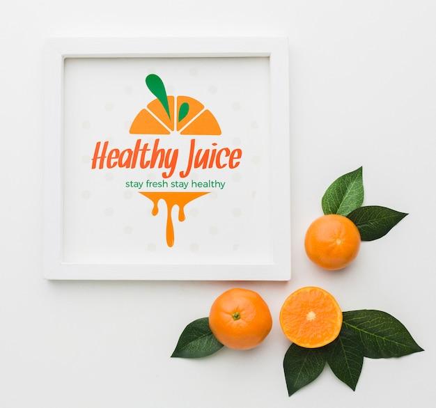 Suco saudável com laranjas orgânicas