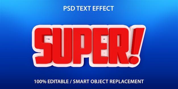 Super efeito de texto editável