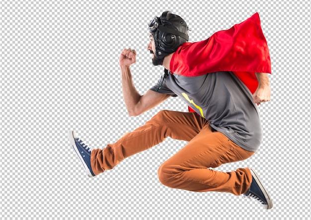 Super-herói correndo rápido