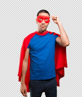 Super-herói intrigado
