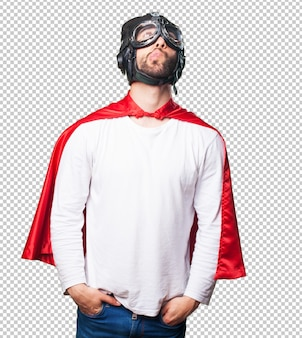 Super herói pensando