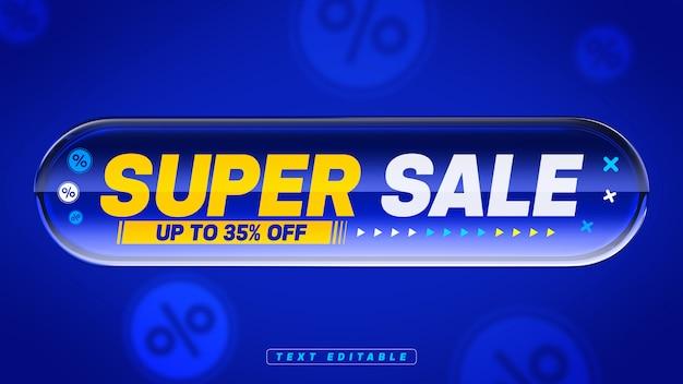 Super venda com 35% de desconto