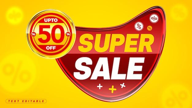 Super venda em acrílico 3d com 50% de desconto