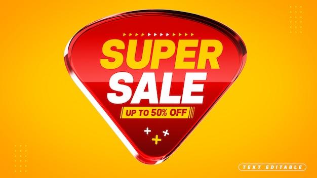 Super venda vermelho 3d abstrato acrílico