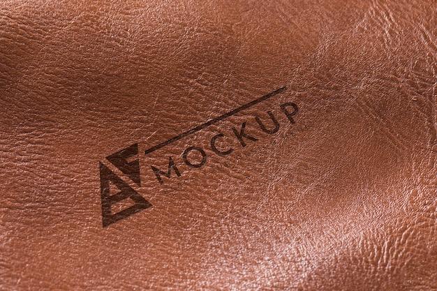 Superfície de couro marrom