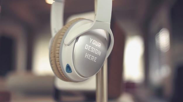 Superfície do fone de ouvido