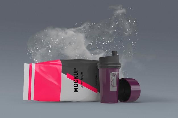 Suplementos splash conceito mock-up
