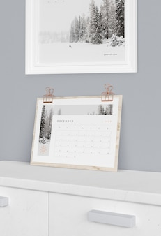 Suporte de placa de madeira para calendário