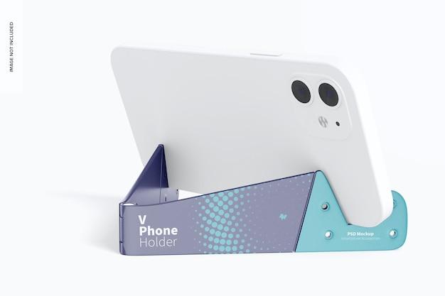 Suporte de telefone v com dispositivo de maquete