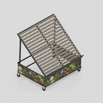 Suporte para legumes e frutas 3d render