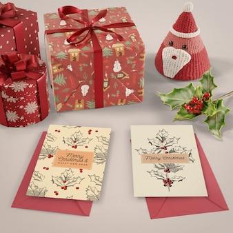 Surpresa de cartão de natal para um ente querido