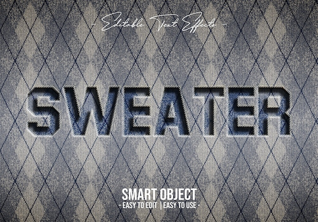 Sweater-text-style-effect